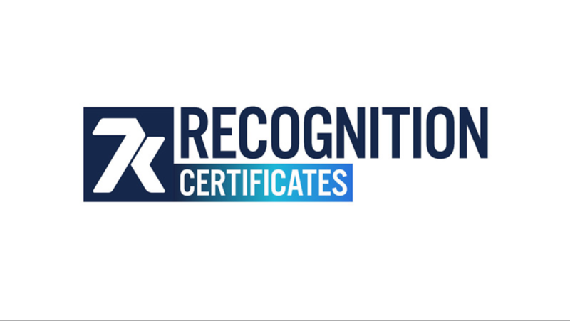 Recognition Certificates 2021