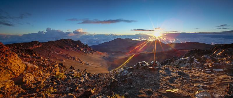 Sunrise above the Haleakala crater