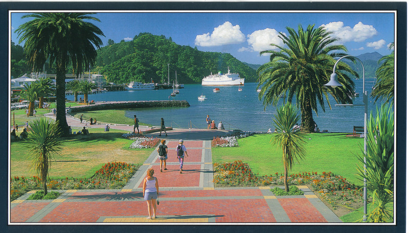 379_Picton Harbour. The big white ferry arrives from Wellington.jpg