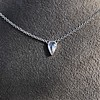 0.48ct 18kt White Gold Rose Cut Bezel Pendant 0