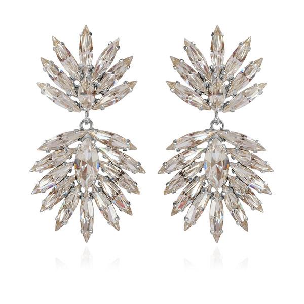 Cina Earrings / Crystal Rhodium