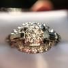 1.18ctw Art Deco Princess Halo Ring 28