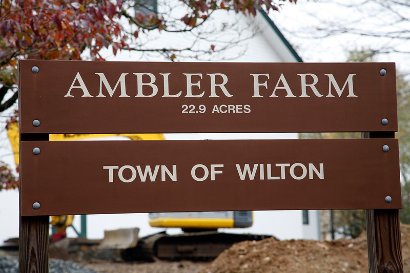 Ambler Farm Sign, Connecticut, USA.
