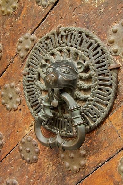 Door knocker of the 15th-century Great Guild Hall -Tallinn, Estonia