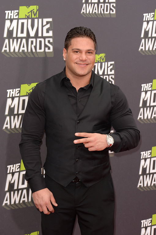 . TV personality Ronnie Ortiz-Magro arrives at the 2013 MTV Movie Awards at Sony Pictures Studios on April 14, 2013 in Culver City, California.  (Photo by Jason Merritt/Getty Images)