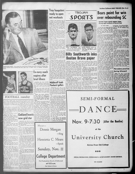 Daily Trojan, Vol. 37, No. 6, November 08, 1945