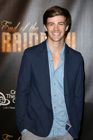 Actor Grant Gustin poses during the arrivals for the opening night performance of