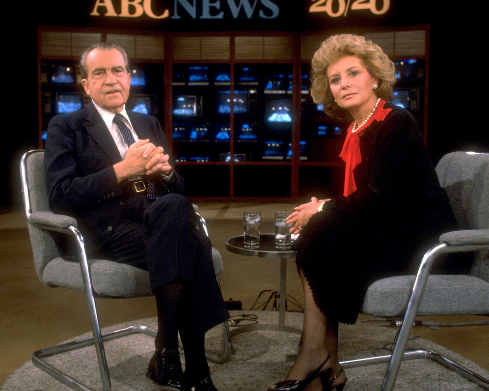 . ABC NEWS - 20/20 - ABC News\' Barbara  Walters interviewed former President Richard Nixon for 20/20, which aired in May 1985. (ABC PHOTO ARCHIVES)