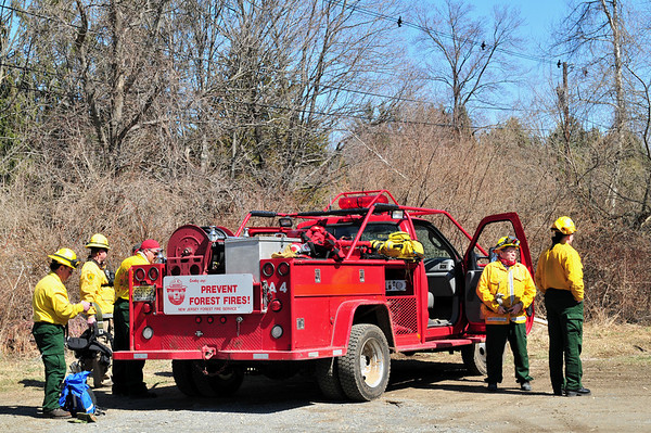 PRESCRIBED BURNING AT BLACK RIVER WILDLIFE AREA IN CHESTER NJ 3/21/09
