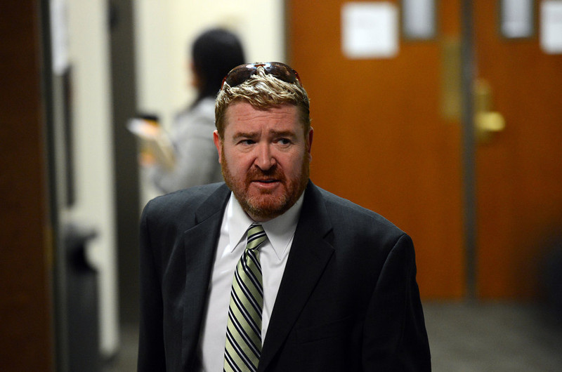 . Daniel King, of the defense team arrive for court, Tuesday, January 8, 2013, in Centennial. RJ Sangosti, The Denver Post