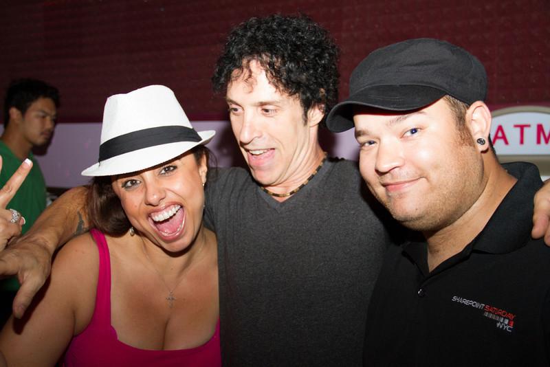 Matt makes friends at the Karaoke bar