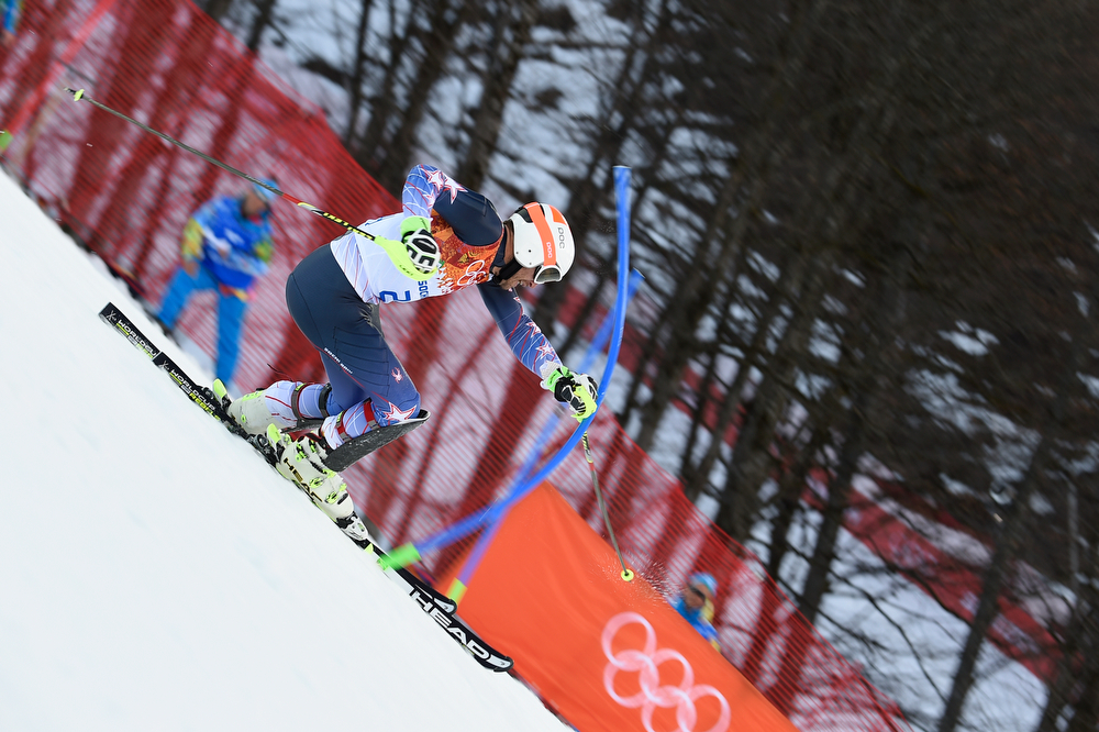 . Bode Miller of the USA competes during the Alpine Skiing Men\'s Super Combined at the Sochi 2014 Winter Olympic Games at Rosa Khutor Alpine Centre on February 14, 2014 in Sochi, Russia. (Photo by Alain Grosclaude/Agence Zoom/Getty Images)