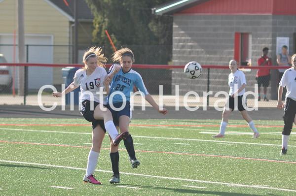 Northeast at Clinton girls soccer (4-11-14)