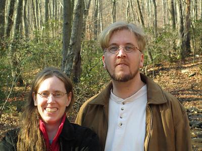 doug daniel lesli walk in frederick municipal forest November 22, 2012
