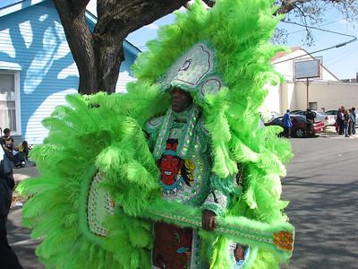 Mardi Gras Indians in da hood
