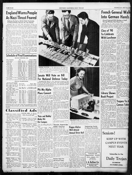 Daily Trojan, Vol. 31, No. 150, May 22, 1940