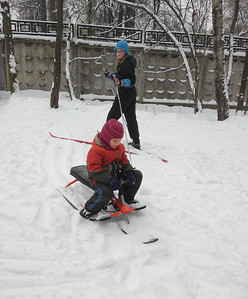 2017-01-05, Skiing in Timiryazevskiy park