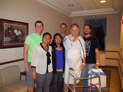 Dad in St. Luke's Hospital, Bethlehem (8-30-2012)