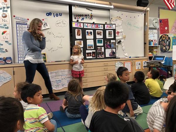 Abby's timeline Presentation to her Kinder Class