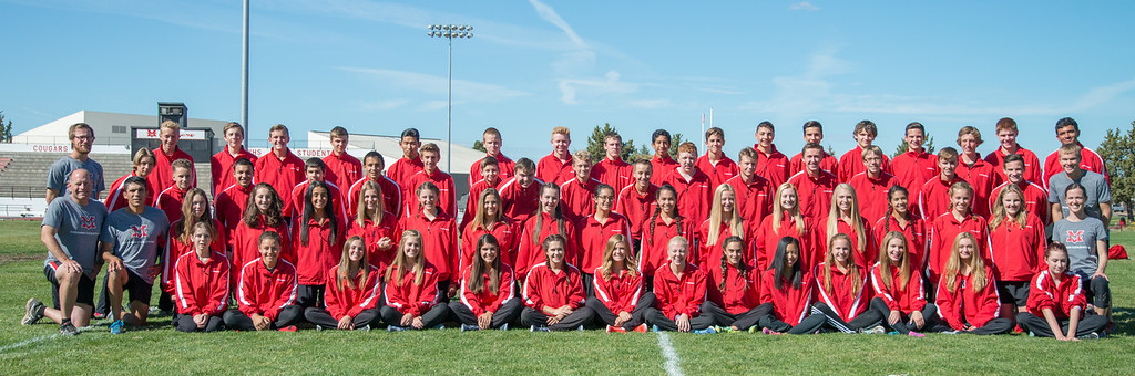 2016 Mountain View XC team portraits