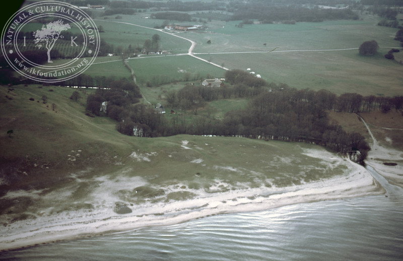 Haväng and submerged prehistoric landscape, Verkaån mouth with coastline south (1986). | LH.0081