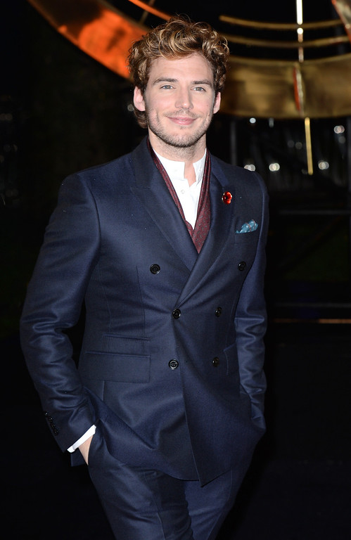 ". Sam Claflin attends the UK Premiere of ""The Hunger Games: Catching Fire\"" at Odeon Leicester Square on November 11, 2013 in London, England. (Photo by Zak Hussein/Getty Images)"