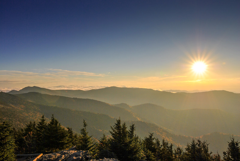 Beautiful views from Black Mountain Crest Trail near Mount Mitchell, NC.