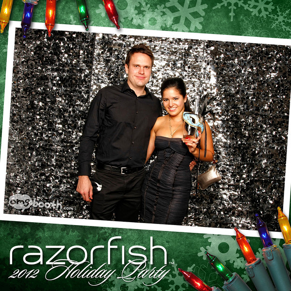 """12.08.2012 razaorfish 2012 holiday party Livingston Restaurant   Atlanta, GA  """"Like"""" us at www.facebook.com/omgbooth to TAG + SHARE + DOWNLOAD your photos  Razorfish helps companies build great brands by creating engaging experiences for consumers wherever they live in the digital world. Our marketing and design capabilities, rooted in digital, combine consumer insight, technology and creativity. The result? Consumer experiences that are as dynamic, elegant, and interesting as the people using them. Clients who enjoy customer loyalty, industry recognition, and results. And employees who thrive on inventing the future.  Learn more at razorfish.com"""