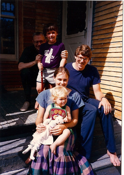 Grandpa with Johnson Family