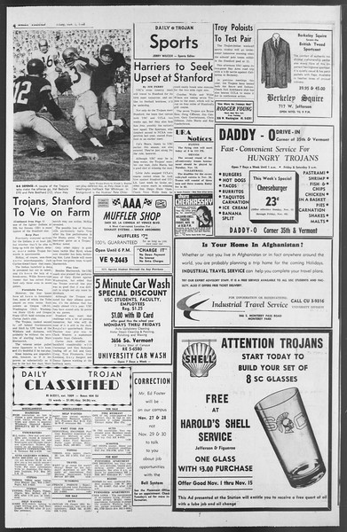 Daily Trojan, Vol. 54, No. 34, November 09, 1962