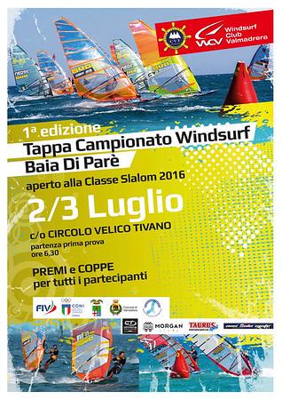 1° Edizione  Campionato Windsurf Baia Parè - Regata SLALOM 2016 OPEN