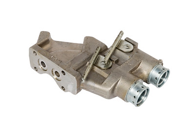 FORD NEW HOLLAND 2 PORT RH SPOOL VALVE HOUSING