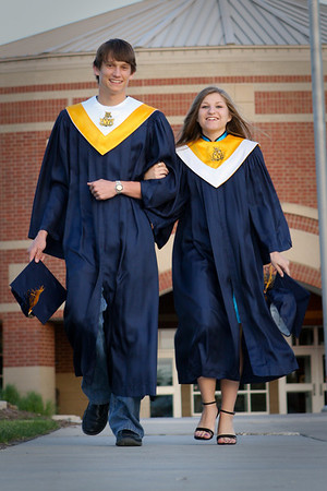Meg and Dave Cap and Gown pictures