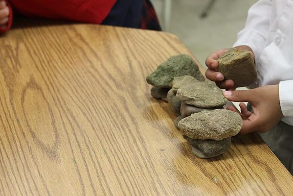 Kindergarten Rock Sculptures