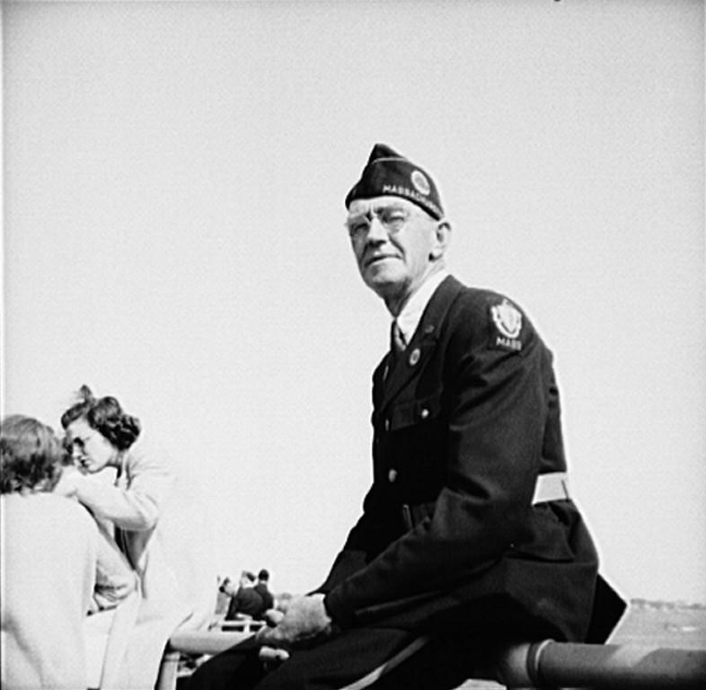 . Gloucester, Massachusetts. Memorial Day, 1943. Portrait of an American legionnaire, 1943. Gordon Parks, Photographer.  Courtesy the Library of Congress
