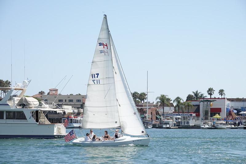 Sailing on Balboa Island.