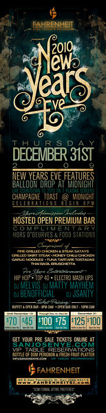 New Years Eve @ Fahrenheit Ultra Lounge 12.31.09