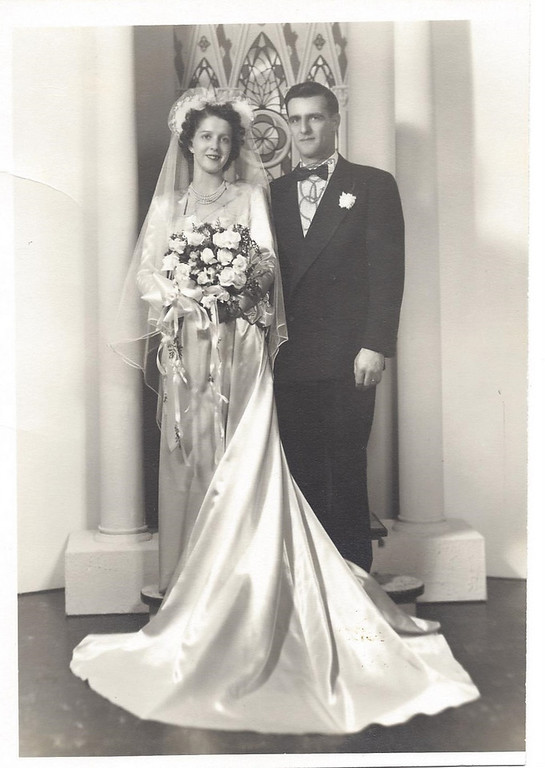 . Writes Mary Ann: A Tribute to our Parents, Walt & Millie (Arcand) Falardeau. <p>Walt served in the Army in World War II in the Pacific. After the War, he moved to St. Paul, where he met Millie. They were married on Feb. 19, 1950, in White Bear Lake and had 8 children right away. On May 28, 1963, at 39 years old, Millie died of cancer, leaving Walt alone to raise eight children, ages 2 to 12 years old.  Walt died on June 4, 1989, at 75 years old of heart disease. Walt and Millie left a legacy of eight children and their spouses, 17 grandchildren and 14 great-grandchildren with another due in July. <p>On May 28th it will be 50 years since our mother died, and on June 4 it will be 24 years since our father died. I am thankful for growing up in a large family.   <p>Happy Memorial Day, as we remember those who have died and how they touched our lives.