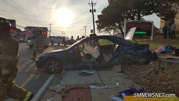11/18/18 Serious Motor Vehicle Accident on Great Mills Road with Two Subjects Trapped