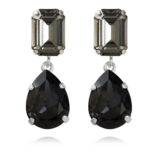 Lydia Earrings /Black Diamond + Graphite Rhodium