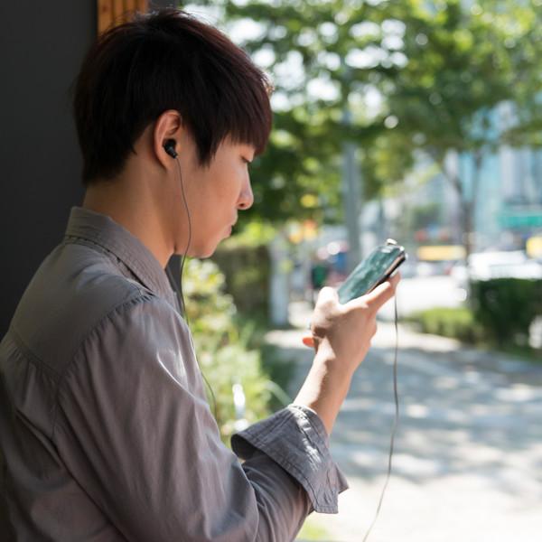 Man using mobile phone, Seoul, South Korea