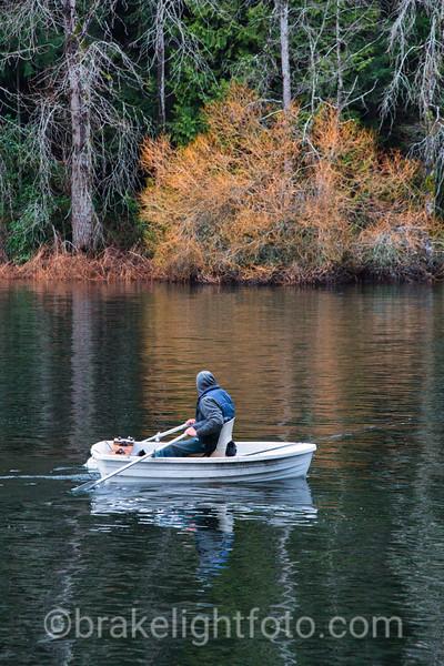 Rower on Elk Lak