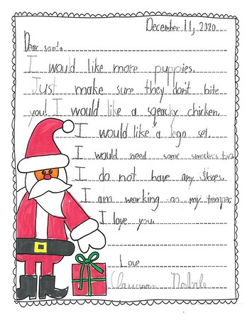 Mrs. Wilson's Second Grade Letters to Santa