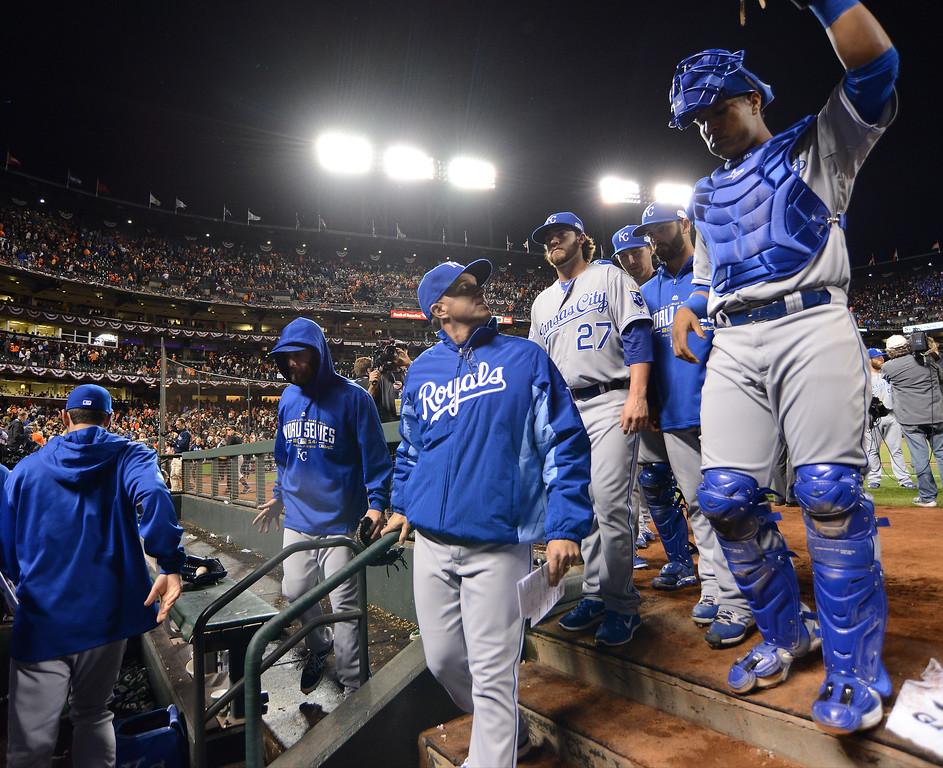 Royals-Giants World Series Game  San Francisco workout