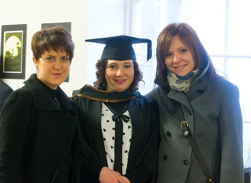 Waterford Institute Of Technology Conferring. Pictured at WIT Waterford Institute Of Technology Conferring is Sylvia Hawula from Waterford who graduated Bachelor of Business (Honours), also pictured are Anna and Anna Hawula.Picture: Patrick Browne