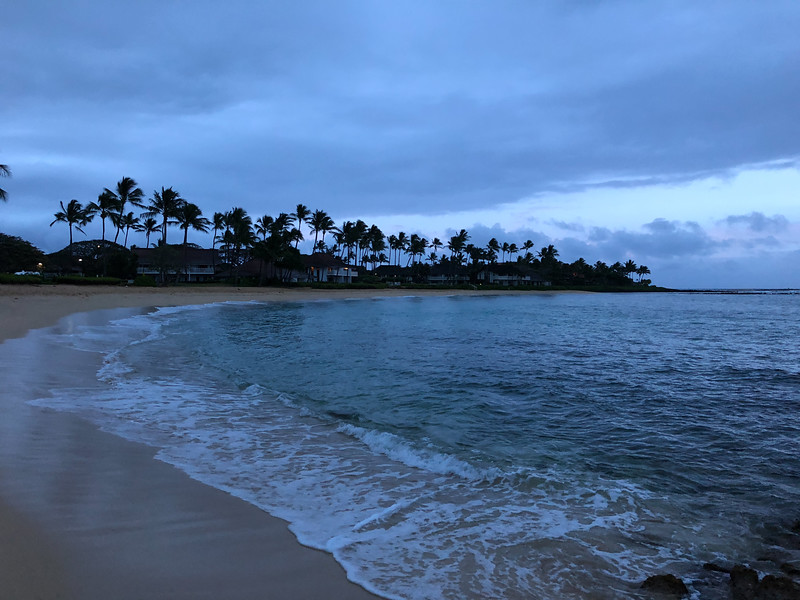 Early morning in Poipu Beach.