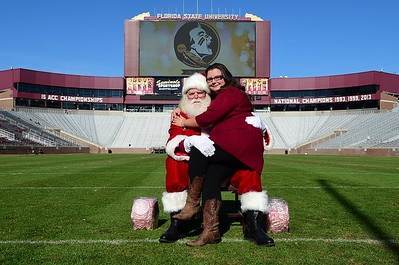 Photos on the Field with Santa