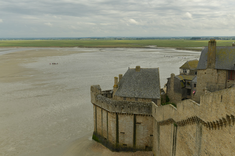 Mont Sainte Michel at low tide