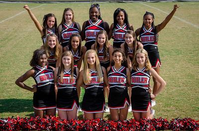 2013 Butler High School JV Football Cheerleaders Team Photos