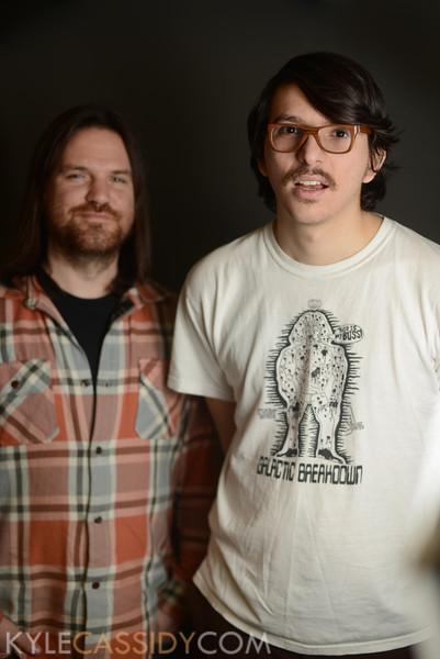 """Benjamin Mara and Pat Aulisio - writer-illustrators ben-""""night business"""" pat """"bowman"""".JPG"""